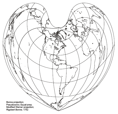 Bonne Pseudo-Conic Projection