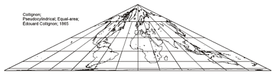 Collignon Pseudo-Cylindrical Projection