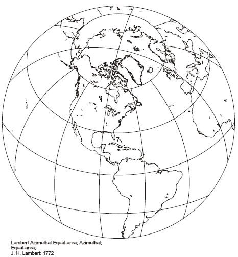 Lambert Azimuthal Equal Area Projection