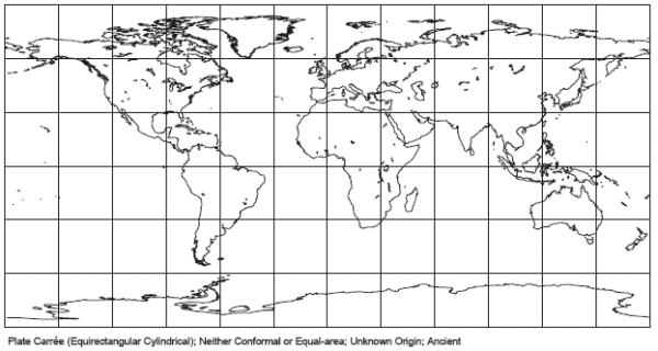 Diagram of the MapQuest Map Projection