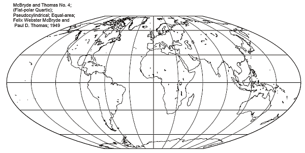 McBryde-Thomas Flat Polar Quartic Pseudo-Cylindrical Projection
