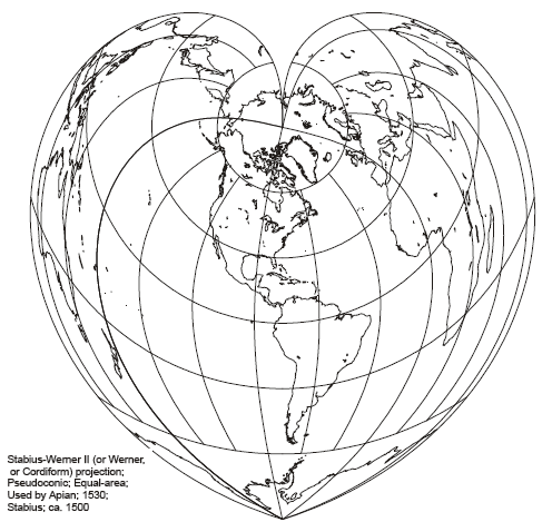 Werner Pseudo-Conic Projection