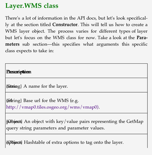 Example of poor formatting of an API table in the ePub edition