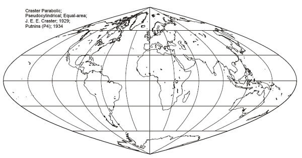 The Craster Parabolic Pseudo-Cylindrical Projection