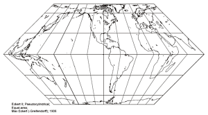 Eckert II Pseudo-Cylindrical Projection
